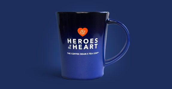 Heroes at Heart Blue Mug
