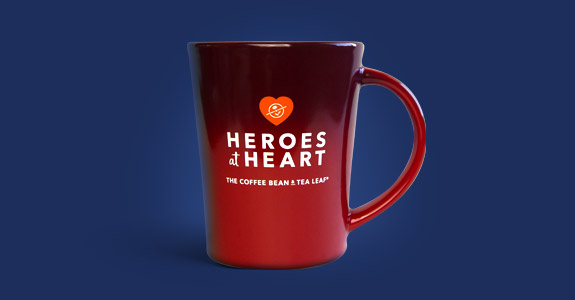 Heroes at Heart Red Mug